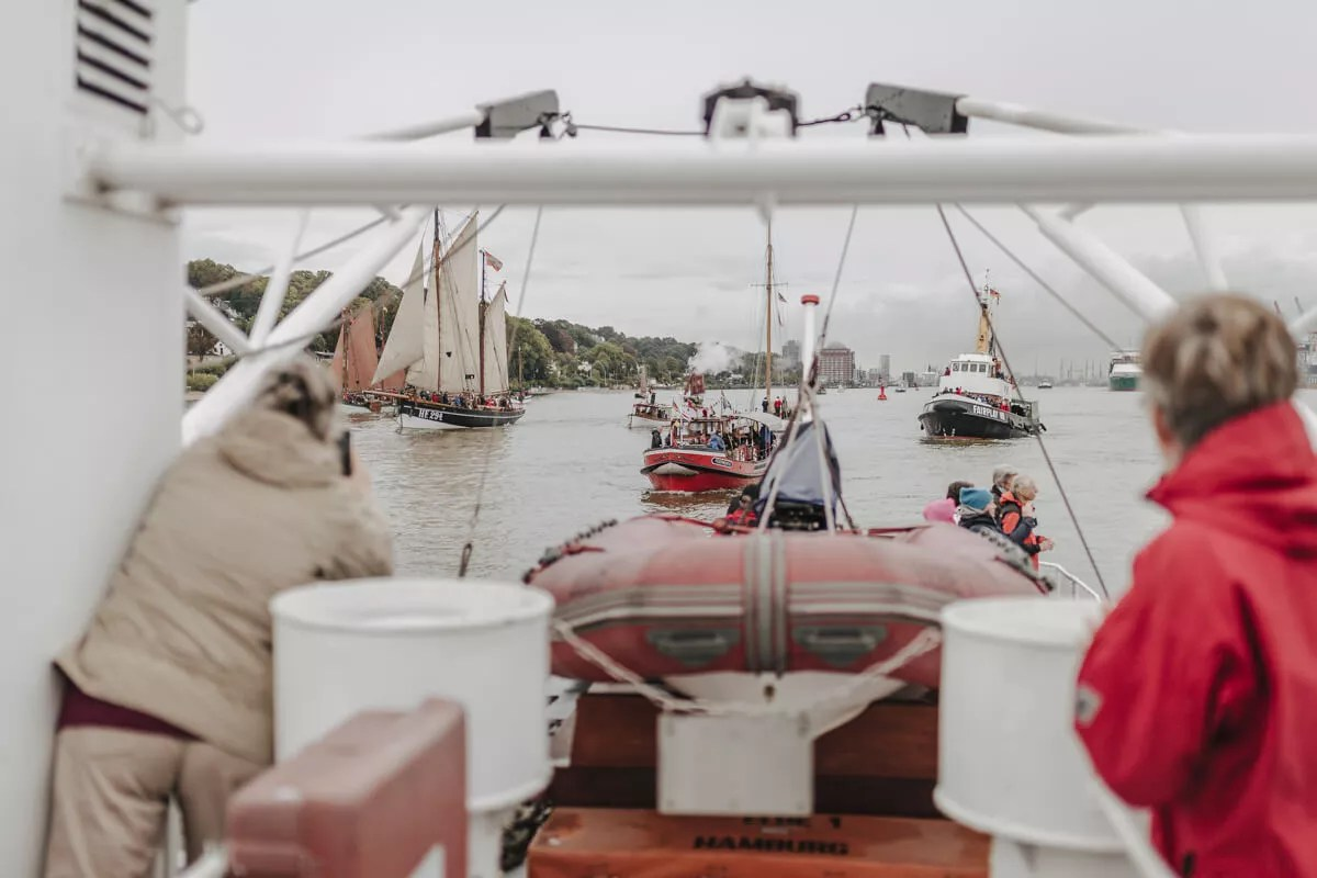 An Bord der Elbe1 auf dem Elbfest 2018