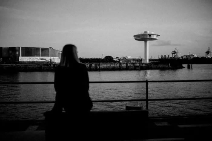 Ausblick auf den Baakenhafen beim Porträtshooting in der Hafencity