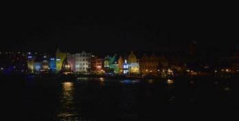 Handelskade at night, Curacao