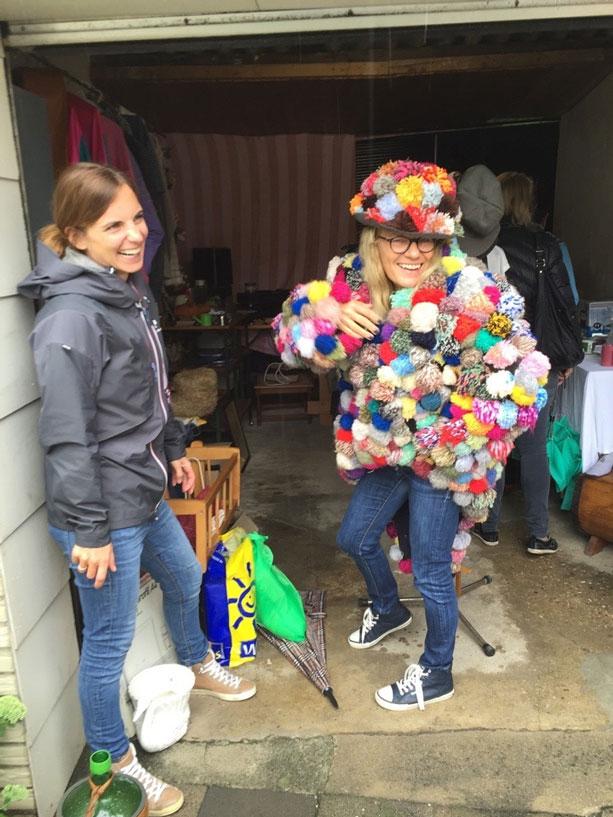 Pom-Pom-Kostüm für Karneval