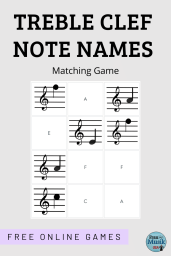 FREE Treble Clef Note Names Games | Elementary Music Classroom or Online Distance Learning