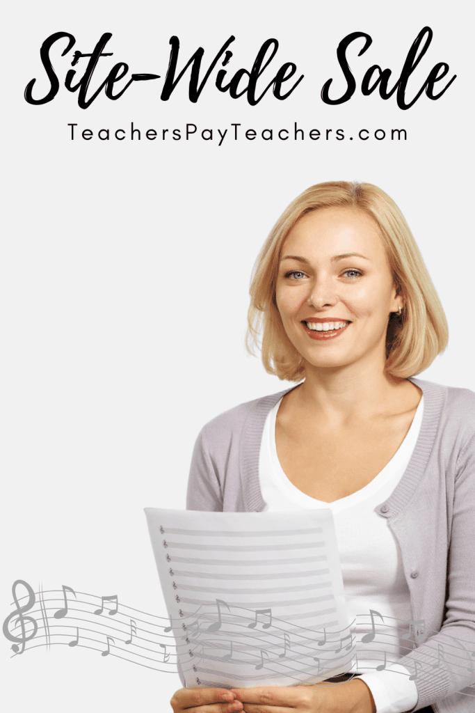 Site-Wide Sale TeachersPayTeachers.com | Frau Musik USA
