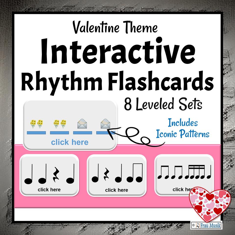 Interactive DIGITAL Rhythm Pattern Flashcards for the Elementary Music Classroom