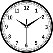 Clock as a visual symbol to start class on time