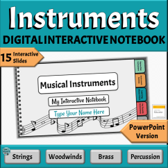 Digital Music Activities for PowerPoint | Instruments of Orchestra & Band Interactive Notebook