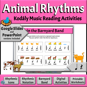 Animal Rhythms Music Reading