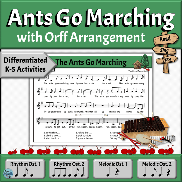 Camp Song with Differentiated Orff Arrangement for the Elementary Music Classroom | Grades K-5