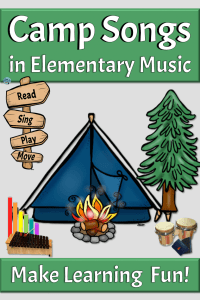 Using camp songs in elementary music, read, sing, play move