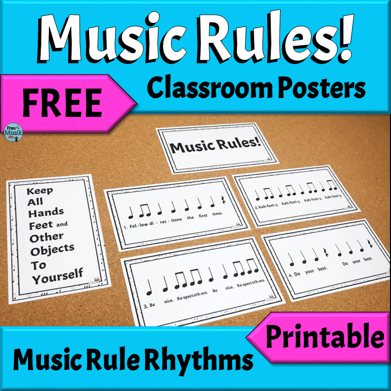 FREE Music Rule Rhythm Posters | Back to School Elementary Music Activities