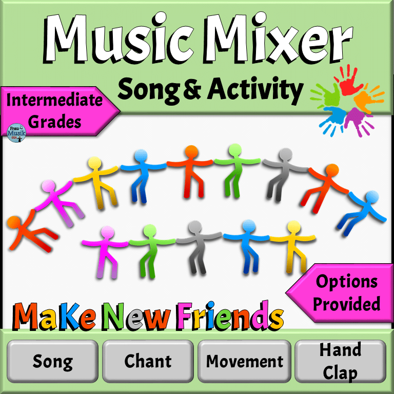 Music Mixer Song & Game | Back to School Elementary Music Activities