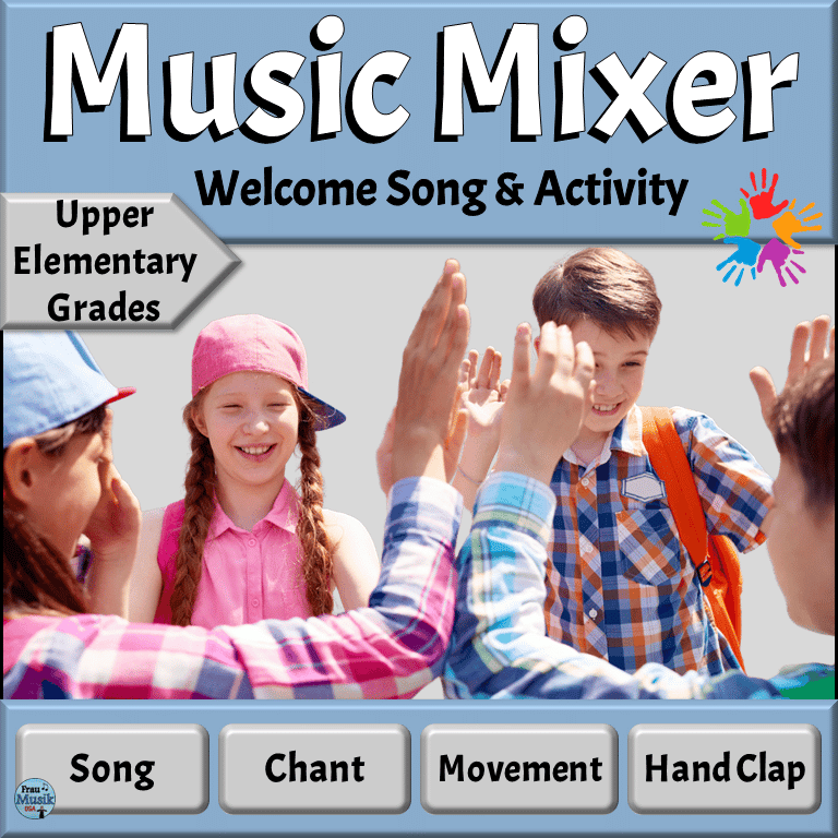 Back to School Music Activities - Song and Game for Elementary Music Classroom | Upper Elementary Grades