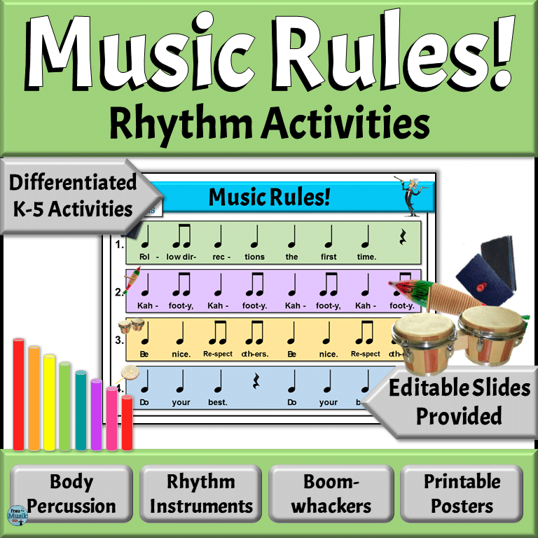 Engage Your Elementary Music StuBack to School Orff Rhythm Rules for the Elementary Music Classroom