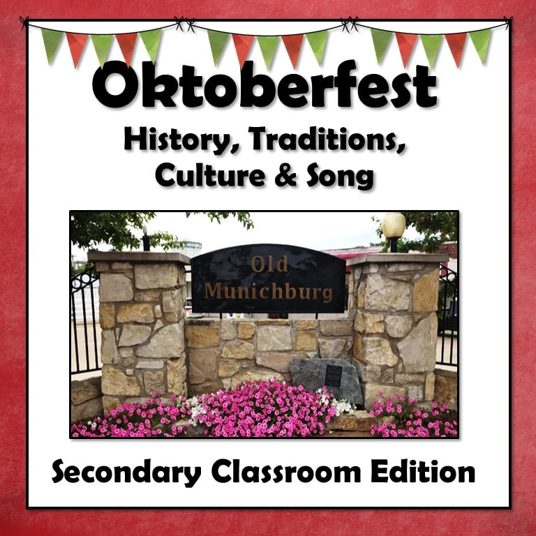 Oktoberfest Projectable Lesson and Activities for Secondary Grades