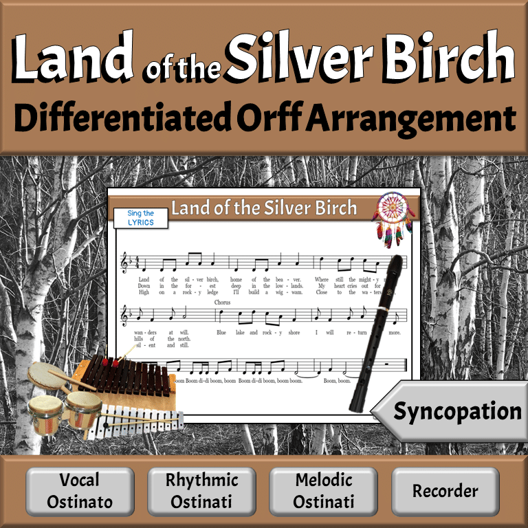 Differentiated Orff Arrangement for the Elementary Music Classroom | Land of the Silver Birch
