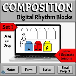 Music Composition Drag & Drop Rhythm Blocks, Set 1 | PowerPoint Version