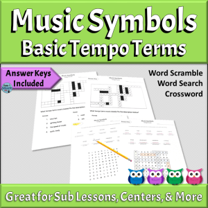 Music Symbols Puzzles | Basic Tempo Terms