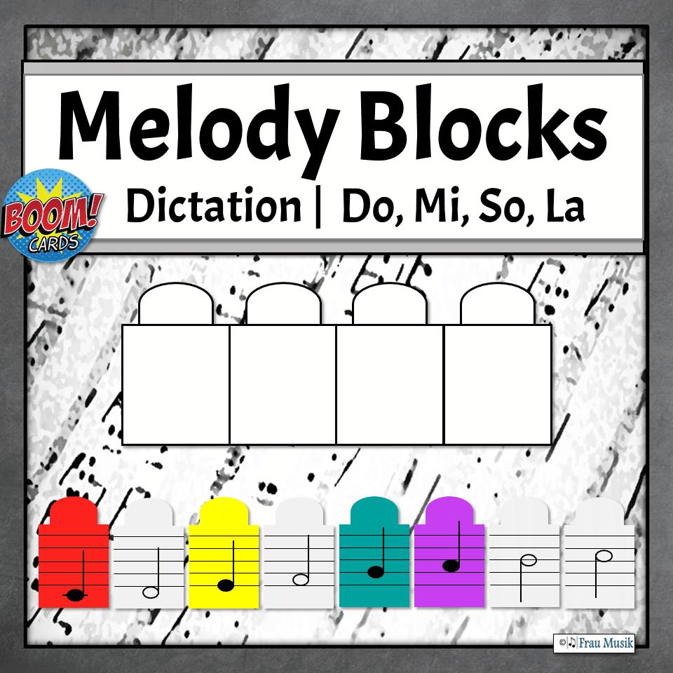 Melodic Dictation Blocks | Do, Mi, So, La Boom Cards