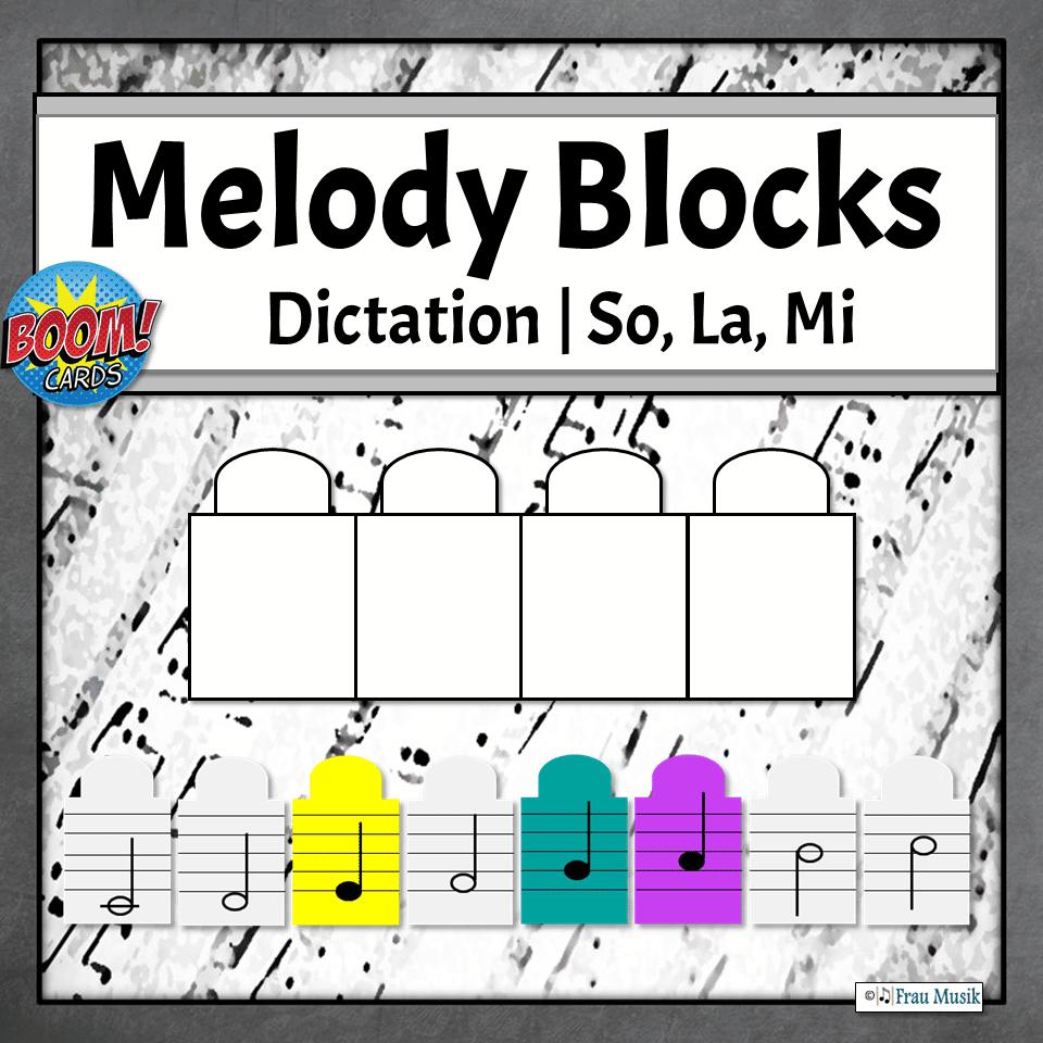 Melodic Dictation Blocks | So, La, Mi