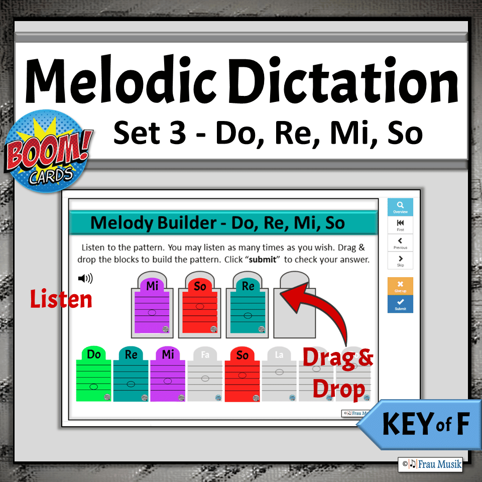 No-Prep Activities for Elementary Music Classroom or Distance Learning | Boom Cards Do Re Mi So