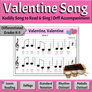 Valentine's Day Song with Orff Instruments