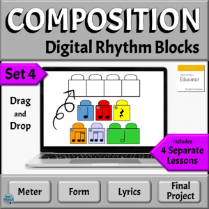 Online Music Composition Drag and Drop Templates for the Elementary Music Classroom | Google Slides Version