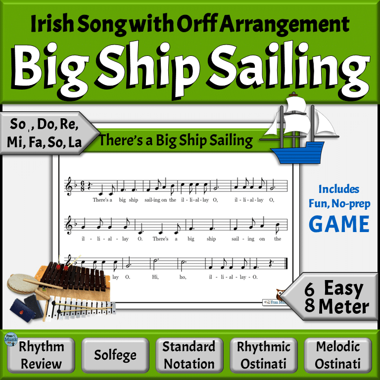 Irish Folk Song with Orff Arrangement for the Elementary Music Classroom | St. Patrick's Day