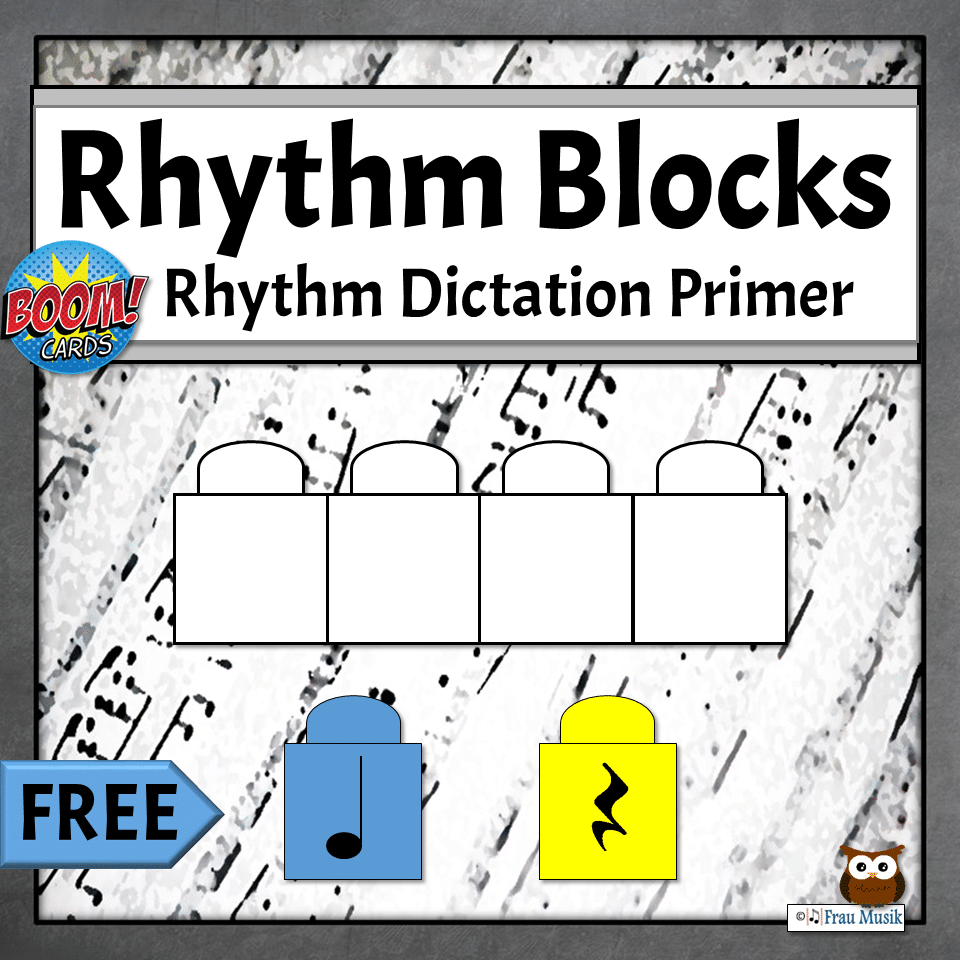 FREE Interactive Rhythmic Dictation Boom Task Cards for Elementary Music Online Learning