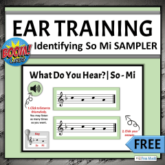 FREE - Identifying So Mi | Elementary Music Online Activities for Classroom or Distance Learning