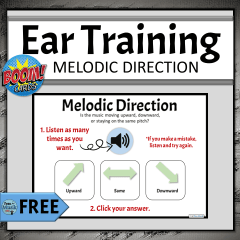 FREE Online Elementary Music Activities for Distance Learning, Melodic Direction