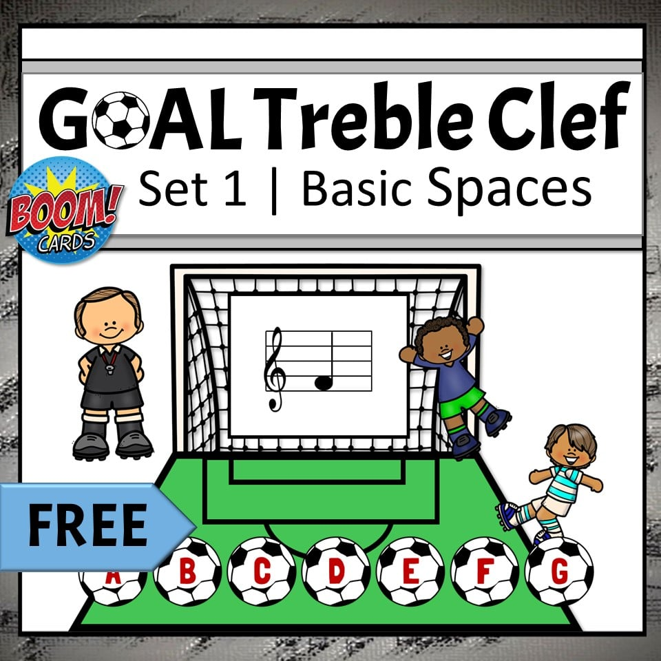 Online Elementary Music Activities for Distance Learning | Treble Clef Note Names Boom Cards