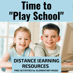 FREE Elementary Music Online Lessons for Distance Learning in Response to School Closures