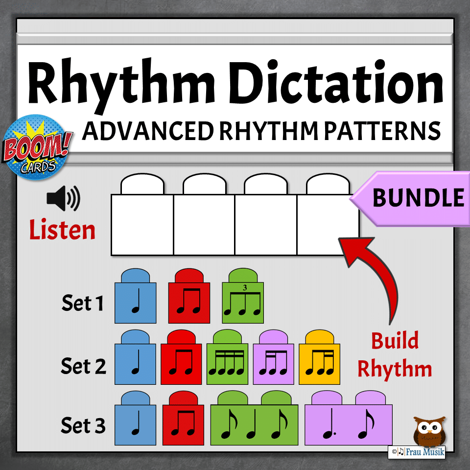 Elementary Music Online Activities | Advanced Rhythm Boom Cards for  Developing Music Literacy