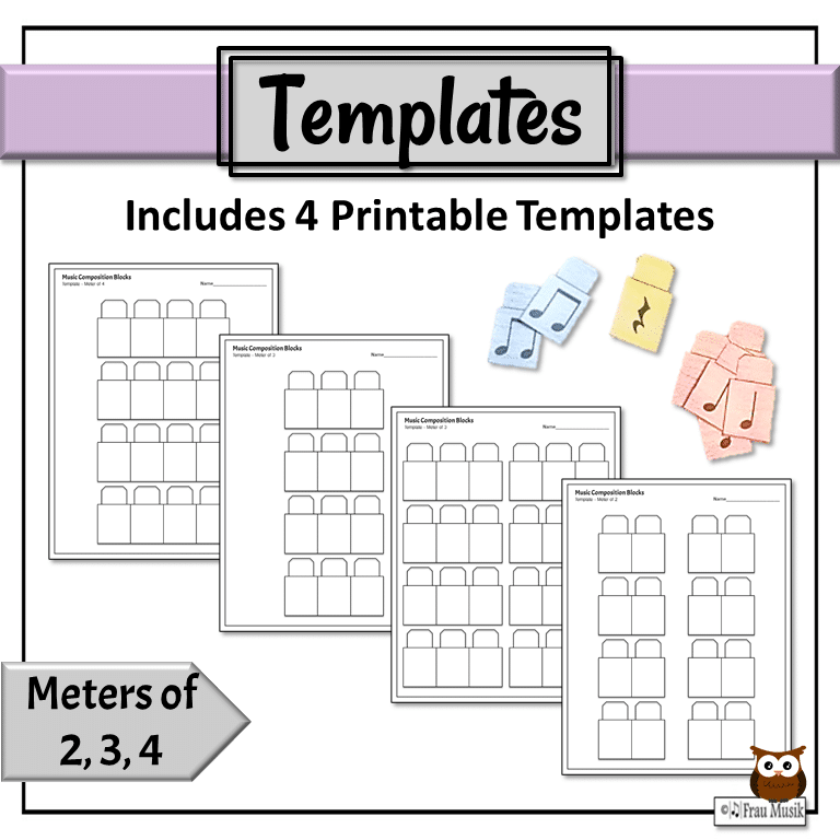 Music Composition Templates for Elementary Grades | Online & Digital