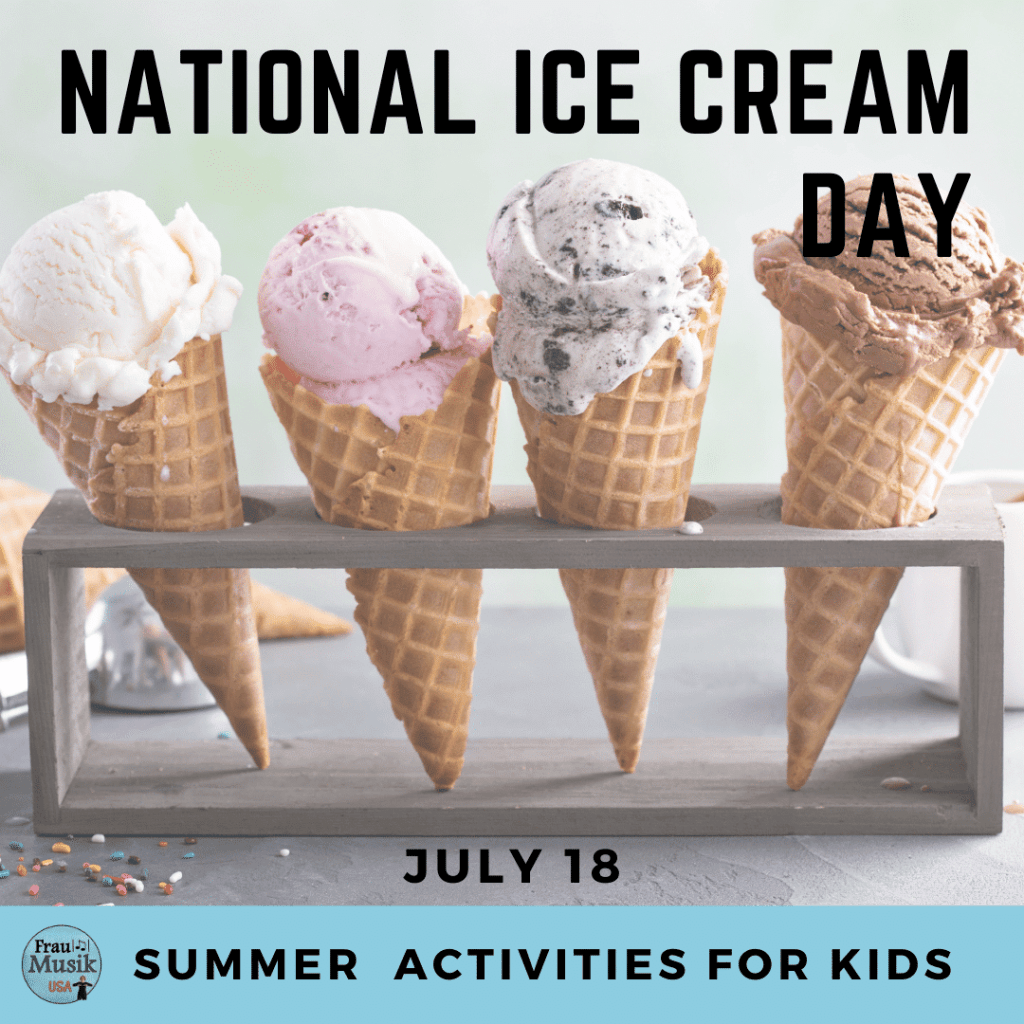 National Ice Cream Day Summer Activities for Kids