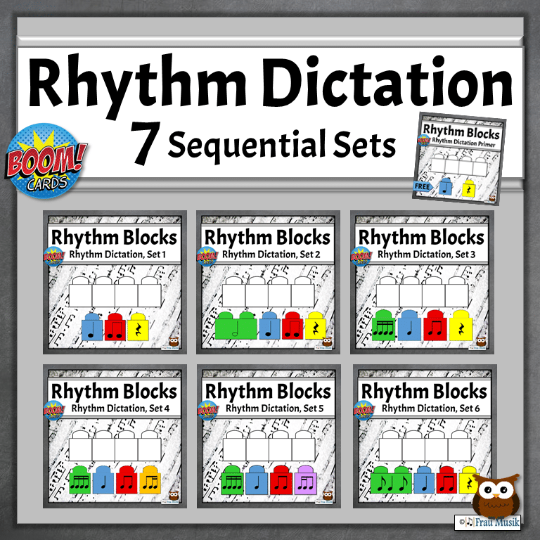 Online Music Activities for Elementary Students | Boom Cards for Music Literacy