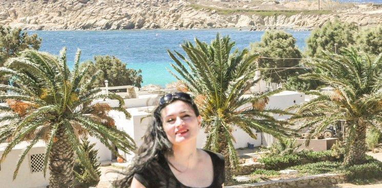 Meine Wenigkeit auf Mykonos