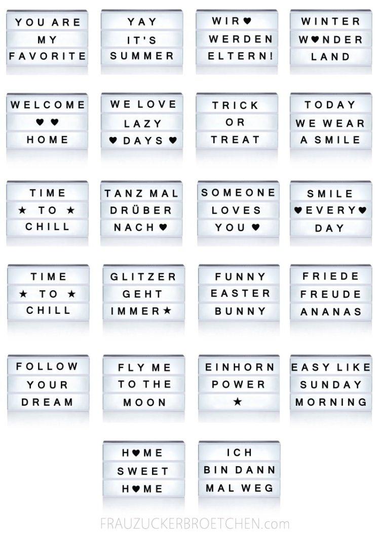 70 Coole Sprüche Für Deine Lichtbox Frau Zuckerbrötchen
