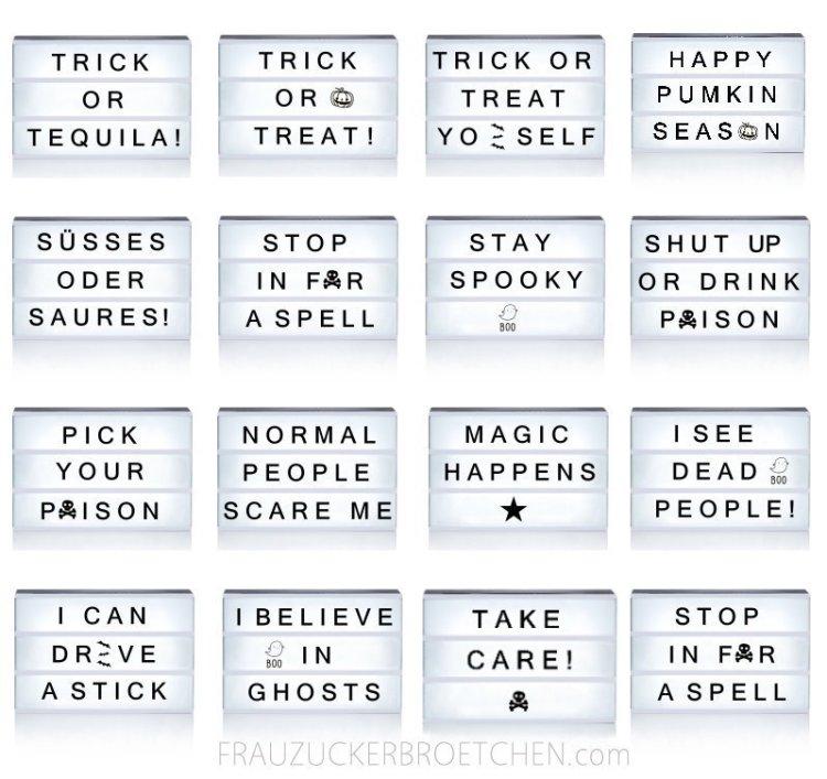 Coole Sprüche Für Deine Lichtbox Teil Iii Halloween