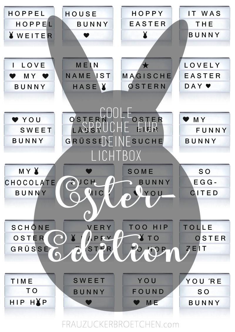 Coole Sprüche für deine Lichtbox - Teil 5 // Die Oster-Edition