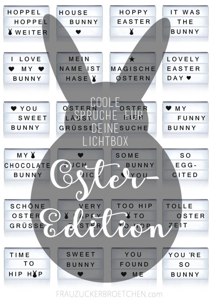 Coole Sprüche für die Lichtbox Oster Edition