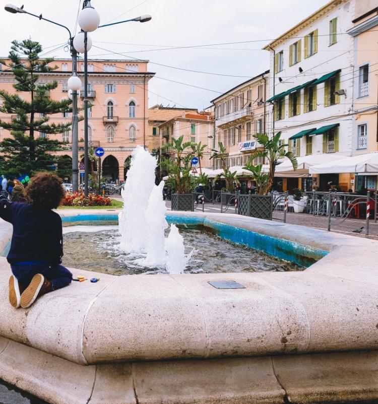 Piazza Columbo Sanremo - Italien