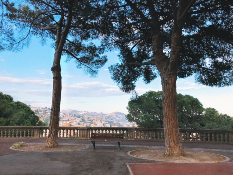 Das Panorama von Sanremo