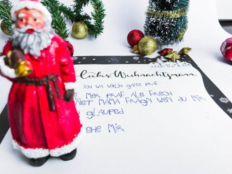 Lieber Weihnachtsmann ich war wirklich ganz brav