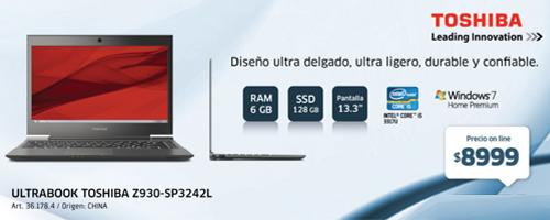 Una Toshiba Ultrabook de13.3 que Frávega ofrece en este mes.