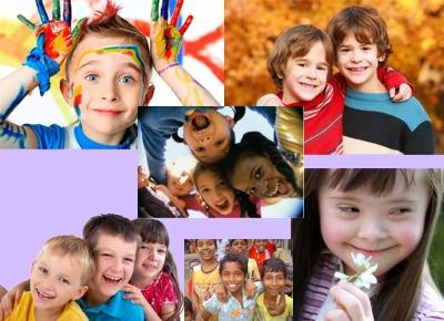 Niños que sonríen y son felices