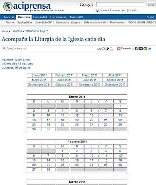 calendario liturgico aciprensa