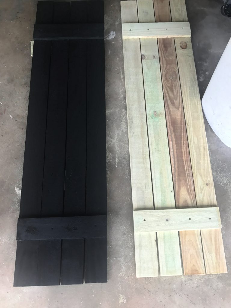 Diy Shutters Made With Fence Pickets Frazzled Joy