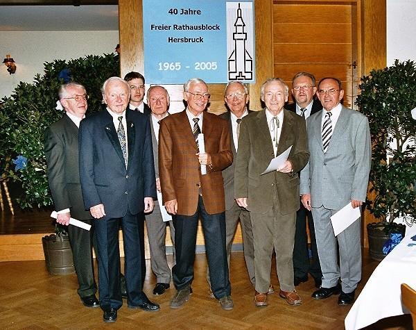 Die Jubiliare des FRB Hersbrucks bei der Feier zum 40. Jubiläum des Vereins