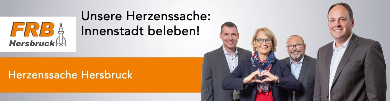 """Banner Herzenssache """"Innenstadt beleben!"""""""