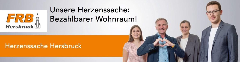"Banner Herzenssache ""Bezahlbarer Wohnraum!"""